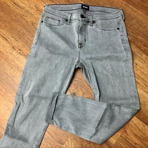 Hudson cropped Hardin super skinny jeans gray 31
